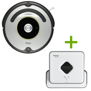 Специално предложение! iRobot Roomba 616 + iRobot Braava 390T