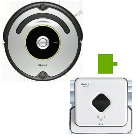 Супер промоция! iRobot Roomba 676+ iRobot Braava 390 на промоционална цена от 956,00лв.