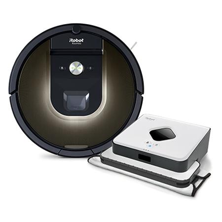 Супер промоция! iRobot Roomba 980+iRobot Braava 390T на промоционална цена от 2199,00лв.
