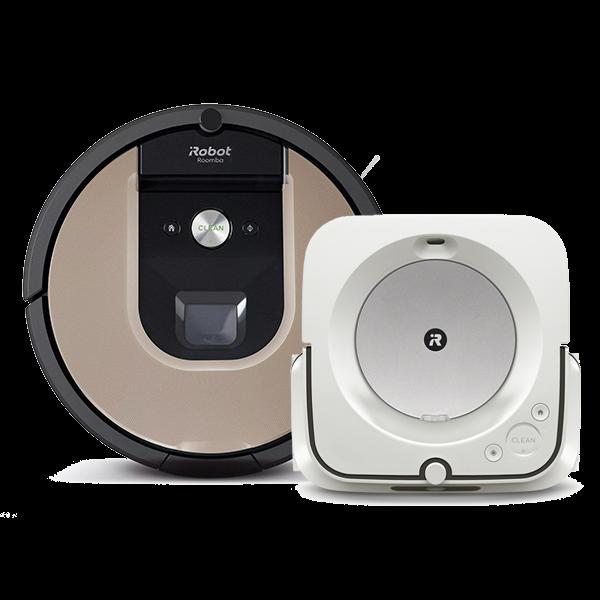 Супер промоция! iRobot Roomba 976+ iRobot Braava Jet M6 на промоционална цена от 2114,00лв.