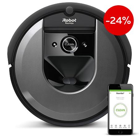 Прахосмукачка робот iRobot Roomba i7 на промоционална цена от 1299,00лв.