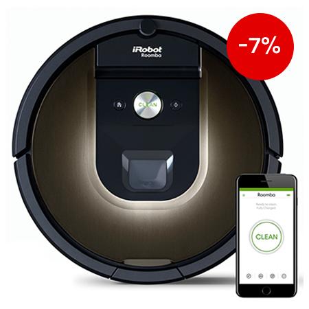 Прахосмукачка робот iRobot Roomba 980 на промоционална цена от 1299,00лв.