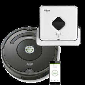 Промо пакет iRobot Roomba 676+ iRobot Braava 390 Turbo
