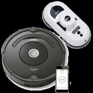 Промо пакет iRobot Roomba 676, Hobot 188